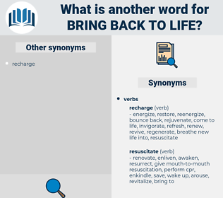 bring back to life, synonym bring back to life, another word for bring back to life, words like bring back to life, thesaurus bring back to life