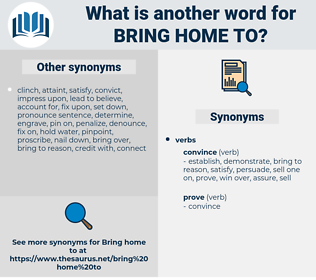 bring home to, synonym bring home to, another word for bring home to, words like bring home to, thesaurus bring home to