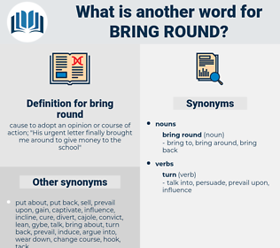 bring round, synonym bring round, another word for bring round, words like bring round, thesaurus bring round