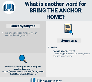 bring the anchor home, synonym bring the anchor home, another word for bring the anchor home, words like bring the anchor home, thesaurus bring the anchor home