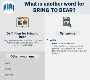 bring to bear, synonym bring to bear, another word for bring to bear, words like bring to bear, thesaurus bring to bear