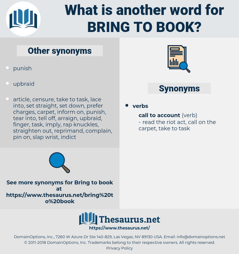 bring to book, synonym bring to book, another word for bring to book, words like bring to book, thesaurus bring to book