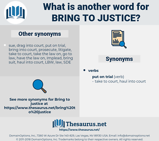 bring to justice, synonym bring to justice, another word for bring to justice, words like bring to justice, thesaurus bring to justice