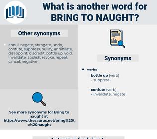bring to naught, synonym bring to naught, another word for bring to naught, words like bring to naught, thesaurus bring to naught