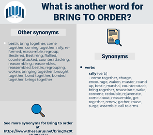 bring to order, synonym bring to order, another word for bring to order, words like bring to order, thesaurus bring to order