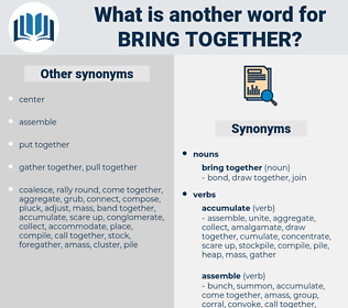 bring together, synonym bring together, another word for bring together, words like bring together, thesaurus bring together