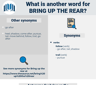 bring up the rear, synonym bring up the rear, another word for bring up the rear, words like bring up the rear, thesaurus bring up the rear