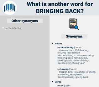 bringing back, synonym bringing back, another word for bringing back, words like bringing back, thesaurus bringing back