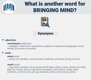 bringing mind, synonym bringing mind, another word for bringing mind, words like bringing mind, thesaurus bringing mind