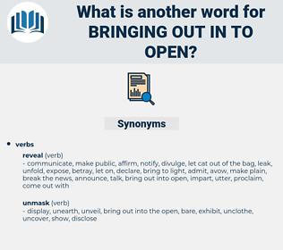 bringing out in to open, synonym bringing out in to open, another word for bringing out in to open, words like bringing out in to open, thesaurus bringing out in to open