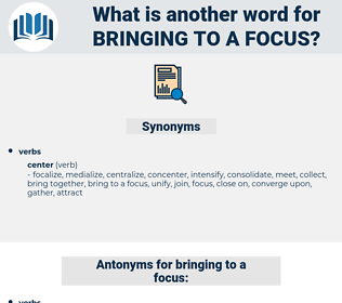 bringing to a focus, synonym bringing to a focus, another word for bringing to a focus, words like bringing to a focus, thesaurus bringing to a focus