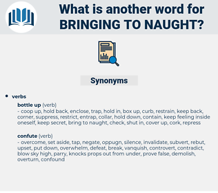 bringing to naught, synonym bringing to naught, another word for bringing to naught, words like bringing to naught, thesaurus bringing to naught