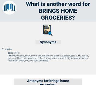 brings home groceries, synonym brings home groceries, another word for brings home groceries, words like brings home groceries, thesaurus brings home groceries