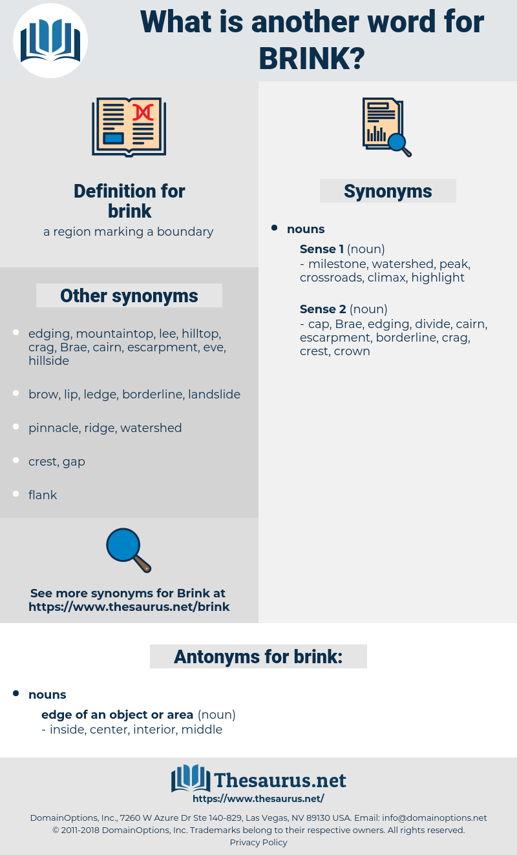 brink, synonym brink, another word for brink, words like brink, thesaurus brink
