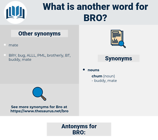BRO, synonym BRO, another word for BRO, words like BRO, thesaurus BRO