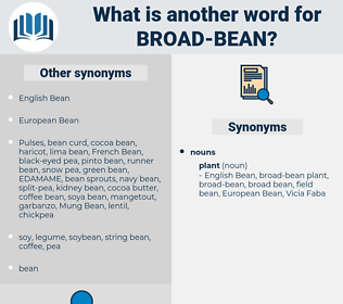 broad bean, synonym broad bean, another word for broad bean, words like broad bean, thesaurus broad bean