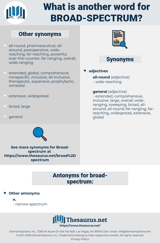 broad-spectrum, synonym broad-spectrum, another word for broad-spectrum, words like broad-spectrum, thesaurus broad-spectrum