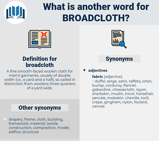 broadcloth, synonym broadcloth, another word for broadcloth, words like broadcloth, thesaurus broadcloth