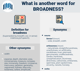 broadness, synonym broadness, another word for broadness, words like broadness, thesaurus broadness
