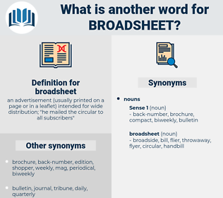 broadsheet, synonym broadsheet, another word for broadsheet, words like broadsheet, thesaurus broadsheet