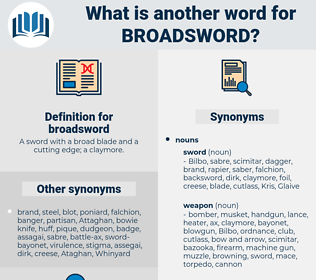 broadsword, synonym broadsword, another word for broadsword, words like broadsword, thesaurus broadsword