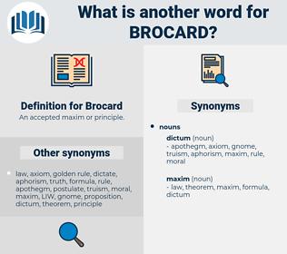 Brocard, synonym Brocard, another word for Brocard, words like Brocard, thesaurus Brocard
