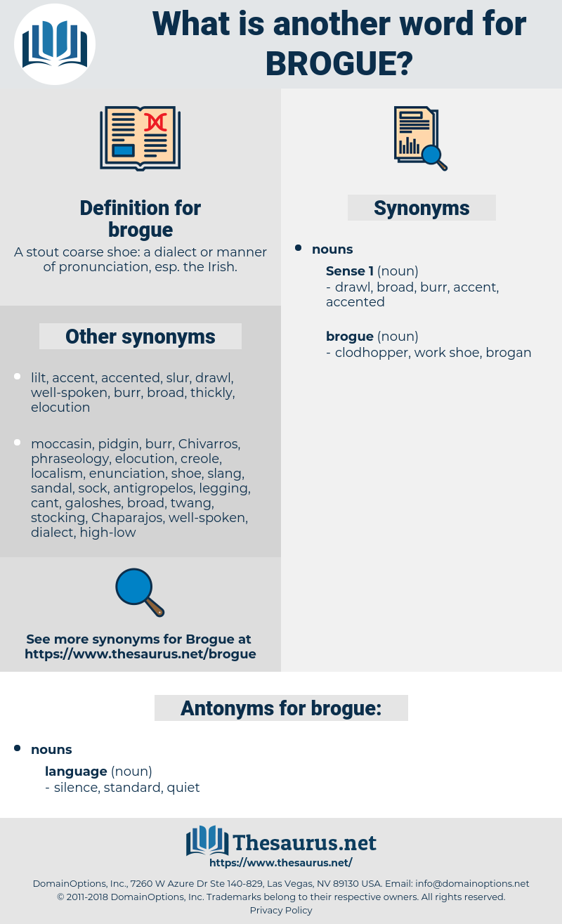 Synonyms for BROGUE, Antonyms for BROGUE - Thesaurus net