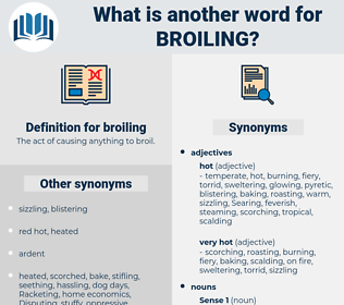 broiling, synonym broiling, another word for broiling, words like broiling, thesaurus broiling