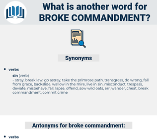 broke commandment, synonym broke commandment, another word for broke commandment, words like broke commandment, thesaurus broke commandment