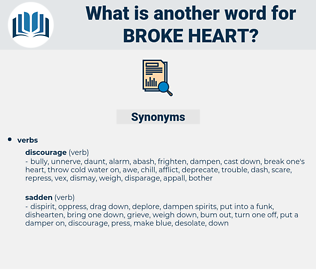 broke heart, synonym broke heart, another word for broke heart, words like broke heart, thesaurus broke heart