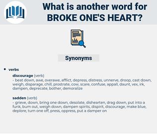 broke one's heart, synonym broke one's heart, another word for broke one's heart, words like broke one's heart, thesaurus broke one's heart