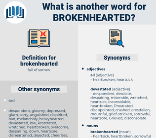brokenhearted, synonym brokenhearted, another word for brokenhearted, words like brokenhearted, thesaurus brokenhearted
