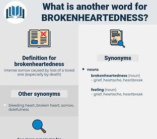 brokenheartedness, synonym brokenheartedness, another word for brokenheartedness, words like brokenheartedness, thesaurus brokenheartedness