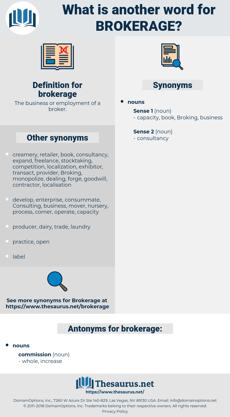 brokerage, synonym brokerage, another word for brokerage, words like brokerage, thesaurus brokerage