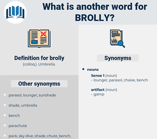 brolly, synonym brolly, another word for brolly, words like brolly, thesaurus brolly