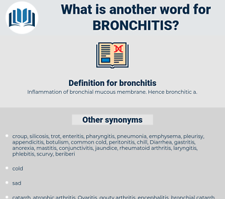 bronchitis, synonym bronchitis, another word for bronchitis, words like bronchitis, thesaurus bronchitis