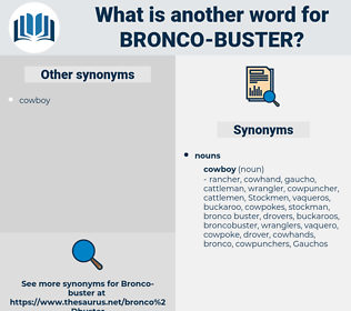 bronco-buster, synonym bronco-buster, another word for bronco-buster, words like bronco-buster, thesaurus bronco-buster