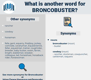 broncobuster, synonym broncobuster, another word for broncobuster, words like broncobuster, thesaurus broncobuster