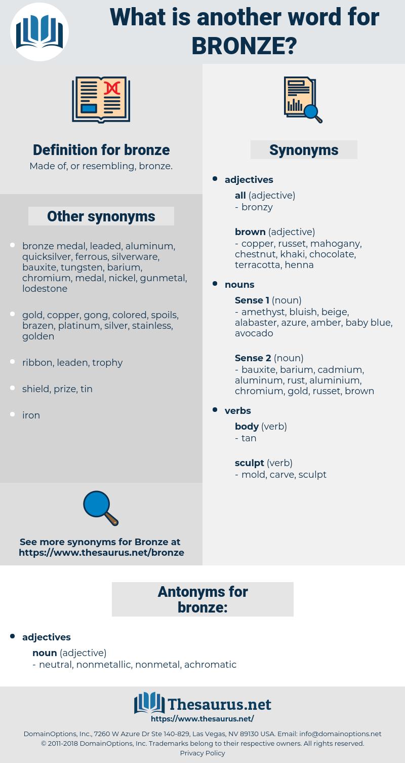 bronze, synonym bronze, another word for bronze, words like bronze, thesaurus bronze