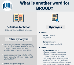brood, synonym brood, another word for brood, words like brood, thesaurus brood
