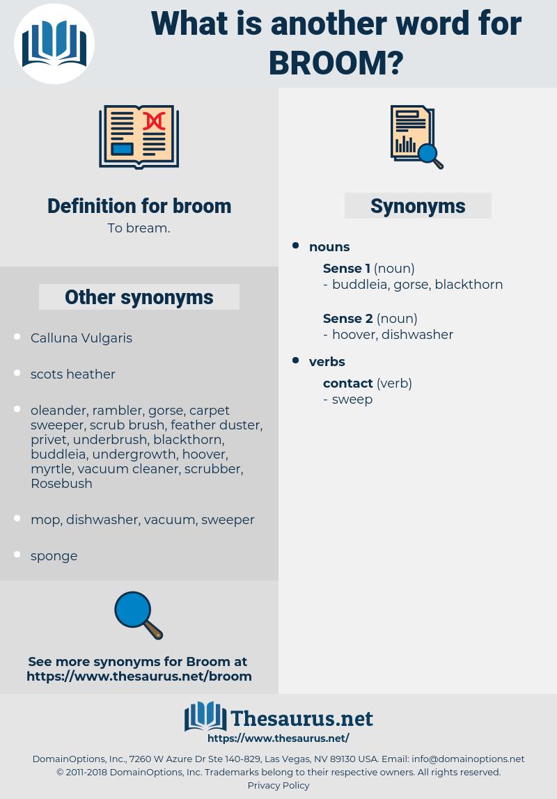 broom, synonym broom, another word for broom, words like broom, thesaurus broom