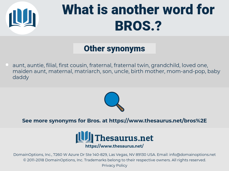 BROS, synonym BROS, another word for BROS, words like BROS, thesaurus BROS