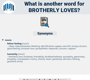 brotherly loves, synonym brotherly loves, another word for brotherly loves, words like brotherly loves, thesaurus brotherly loves