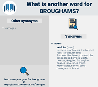 broughams, synonym broughams, another word for broughams, words like broughams, thesaurus broughams