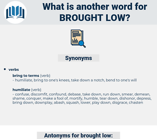 brought low, synonym brought low, another word for brought low, words like brought low, thesaurus brought low