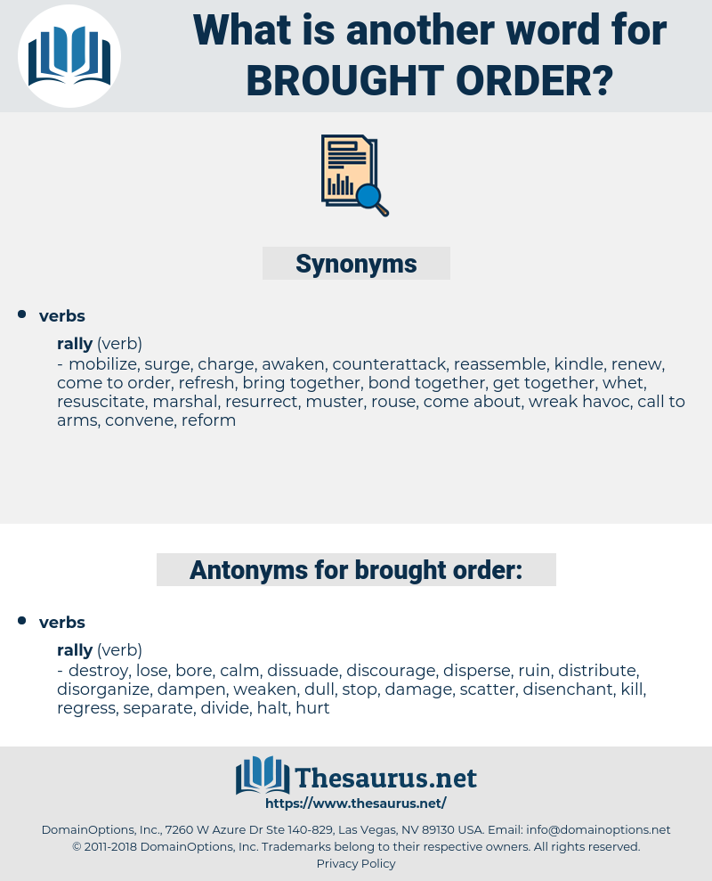 brought order, synonym brought order, another word for brought order, words like brought order, thesaurus brought order