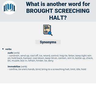 brought screeching halt, synonym brought screeching halt, another word for brought screeching halt, words like brought screeching halt, thesaurus brought screeching halt