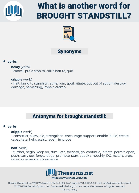 brought standstill, synonym brought standstill, another word for brought standstill, words like brought standstill, thesaurus brought standstill