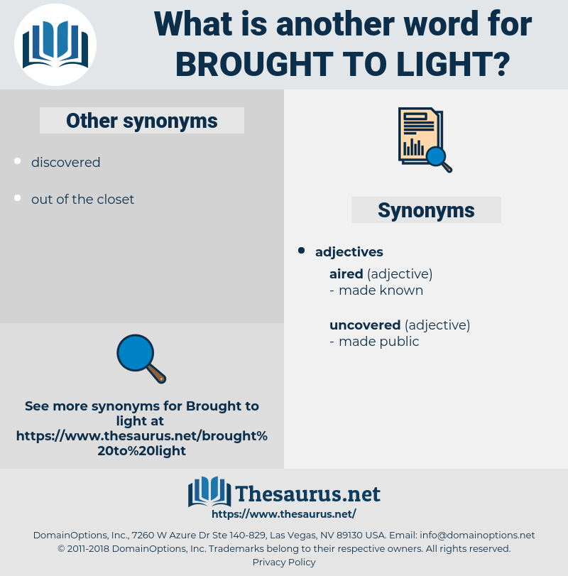 brought to light, synonym brought to light, another word for brought to light, words like brought to light, thesaurus brought to light