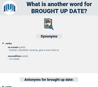 brought up date, synonym brought up date, another word for brought up date, words like brought up date, thesaurus brought up date